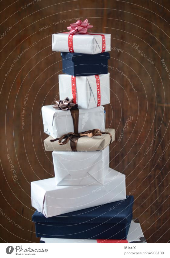 Christmas & Advent Feasts & Celebrations Moody Birthday Tall Gift Paper Luxury Anticipation Packaging Stack Bow Donate Package Gift wrapping Christmas gift