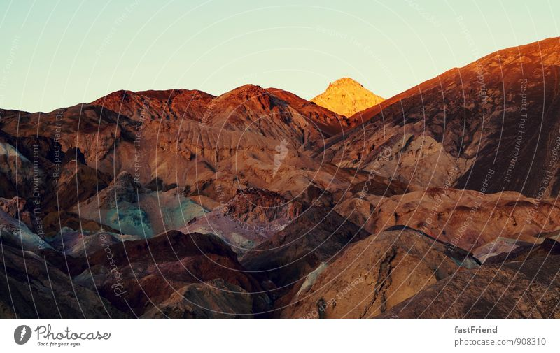 Nature Sun Landscape Mountain Sand Rock Earth Illuminate Corner Point Hill Death valley Nationalpark