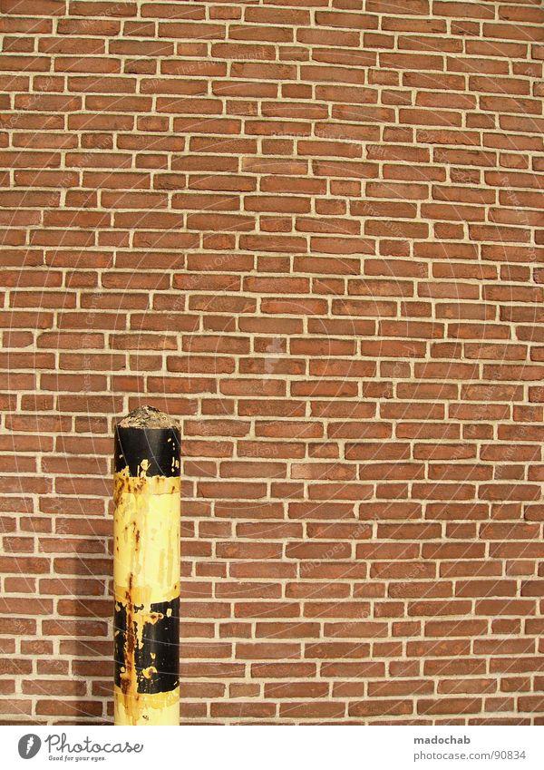 AGAINST BRICKS. ALWAYS. Wall (building) Wall (barrier) Brick Things Architecture Derelict brick look brick look facque imitation brick optics