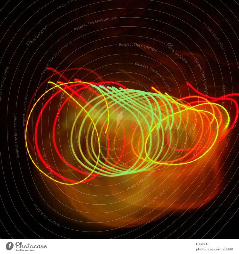 spinning Light Visual spectacle Long exposure Lamp Romance Multicoloured Red Yellow Green Illuminating Neon light Rotation Rhythm Playing Light organ