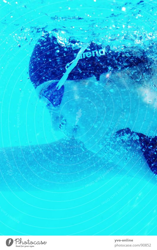 blub Underwater photo Dive Turquoise Woman Breathe Silhouette Sports Playing Profile Swimming & Bathing