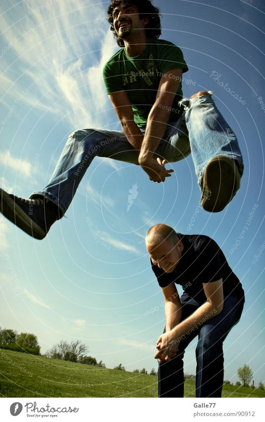 Summer Joy Life Freedom Laughter Jump Flying Perspective To enjoy Athletic Dynamics Grinning Recklessness Weightlessness Seasons