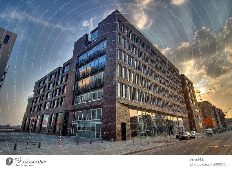Sky City Calm Clouds Window Architecture Glass Hamburg Grief Modern Construction site Harbour Brick Luxury Sidewalk