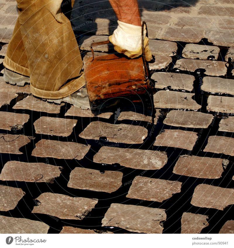 cast enjoyed Tar Cobblestones Bucket Road construction Dexterity Craft (trade) Detail road street repair mending pour Rain Fill flowing fluid boiling