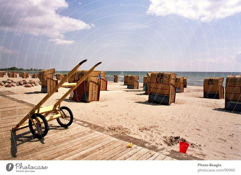 Water Sun Ocean Summer Beach Vacation & Travel Sand Germany Idyll Baltic Sea Beautiful weather Beach chair