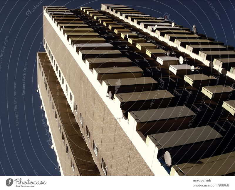 Sky City House (Residential Structure) Life Window Wall (barrier) Building Orange Work and employment Door Flat (apartment) Tall Concrete Design Stairs