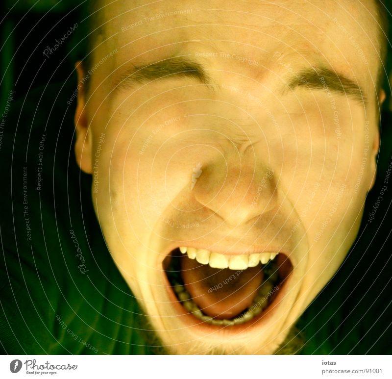 he colored me blind II Scream Blind Portrait photograph Lack Transience Fear Panic Dangerous Art Culture Eyes Colour perversion for profit