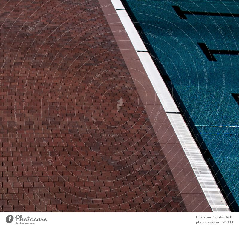 Water Green Blue Summer Black Cold Sports Playing Stairs Railroad Swimming pool Clarity Tile Handrail Cobblestones Flow