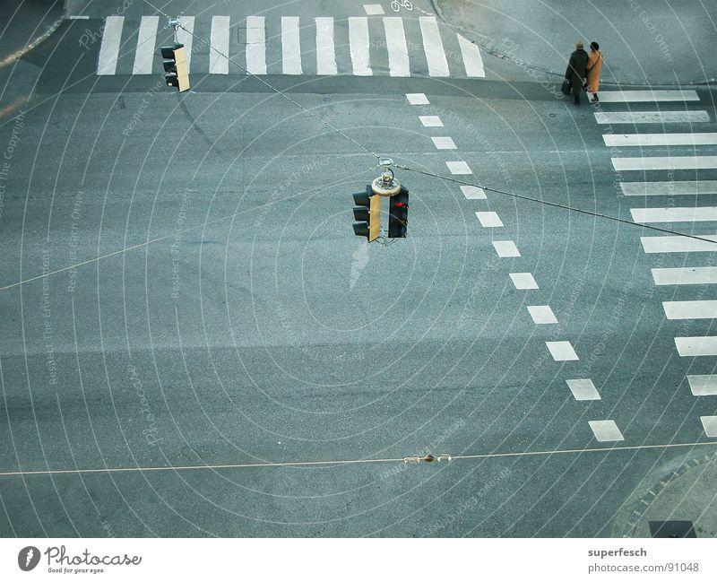 Loneliness Street Lanes & trails Together Transport Empty Traffic infrastructure Traffic light Pedestrian Mixture Zebra crossing Traverse Pedestrian crossing