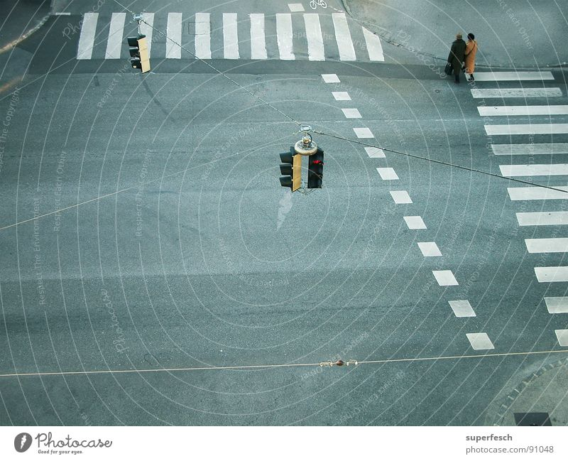rush hour Transport Traffic infrastructure Pedestrian Street Traffic light Together Loneliness Zebra crossing Empty Traverse Mixture Colour photo Exterior shot