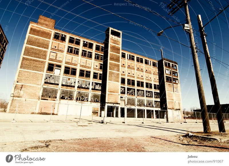 LOST IN PROGRESS - Cleveland Factory Colour photo Exterior shot Deserted Copy Space left Copy Space bottom Twilight Contrast Street Loneliness Derelict