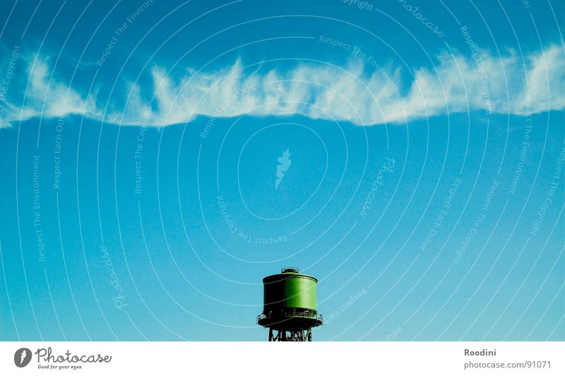 borderline Clouds Air Water tower Time Infinity Far-off places Stagnating Condense Summer Horizon Radiation Ozone layer Border Industry Sky Earth Freedom End