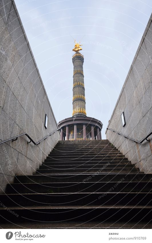 Dreams in concrete Town Capital city Manmade structures Tourist Attraction Landmark Monument Tourism Berlin Victory column Downtown Berlin Tower Colour photo