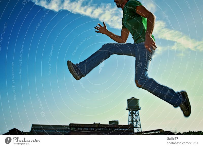 hurdles of a giant Jump Summer Life To enjoy Recklessness Weightlessness Playing volatile Sun Joy Laughter Free Freedom Perspective Dynamics Athletic