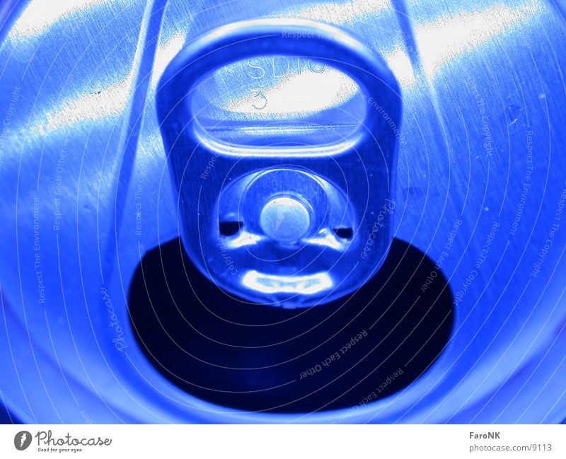 Blue Beer Tin