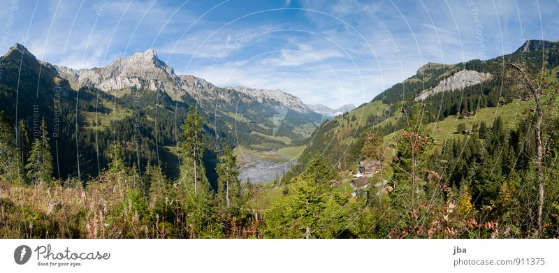 Chingel - Kiental valley Vacation & Travel Trip Far-off places Summer Summer vacation Mountain Hiking Nature Landscape Autumn Beautiful weather Alps Peak Lake