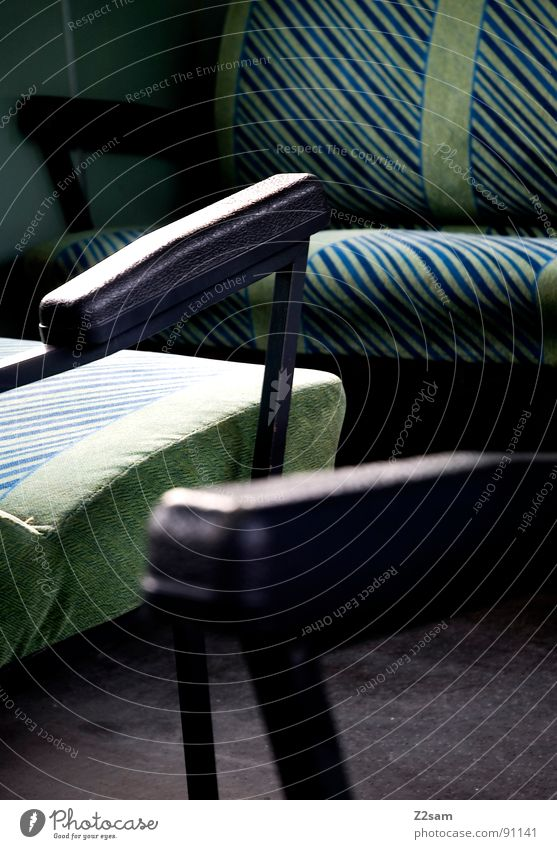 train impressions II Railroad Driving Railroad tracks Seating Luggage Luggage rack Stitching Leather Synthetic leather Abstract Graphic Simple Glittering Green