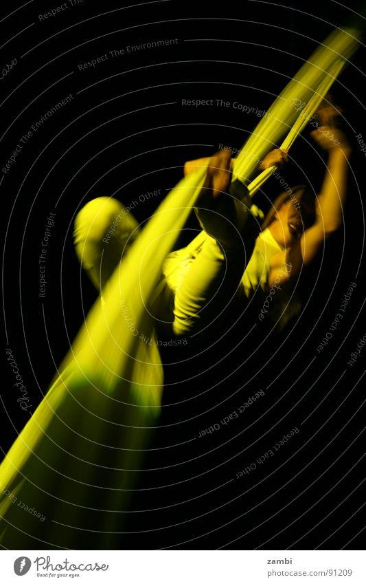 Woman Joy Yellow Art Dance Rope Shows Club Brave Event Dynamics Events Flexible Artist Acrobat Circus
