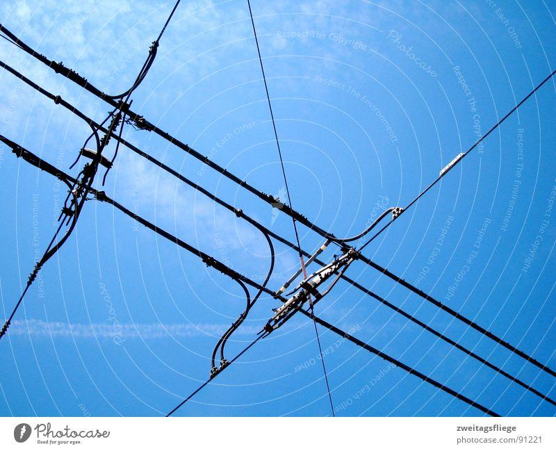 Sky Blue Line Transport Electricity Transmission lines Tram Public transit