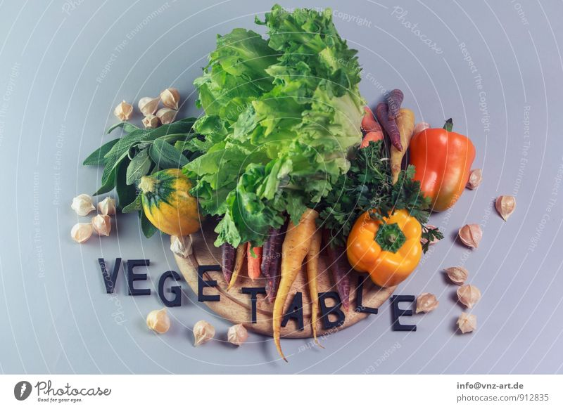 Yellow Food Nutrition Good Vegetable Organic produce Typography Diet Lettuce Vegetarian diet Salad Carrot Pepper Italian Food Slow food Sage