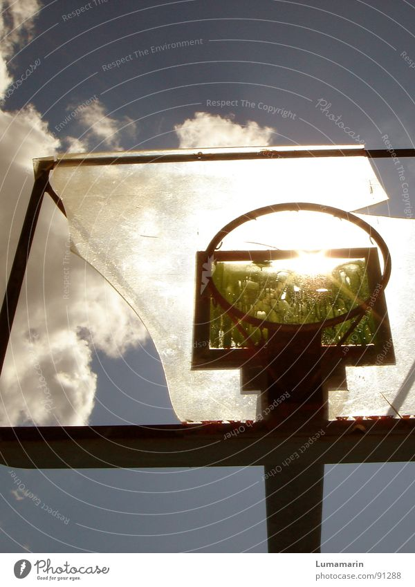 don't stop playing I Basketball basket Playing Leisure and hobbies Light Clouds Summer Physics Aim Destruction Shard Vandalism Anger Frustration Disappointment
