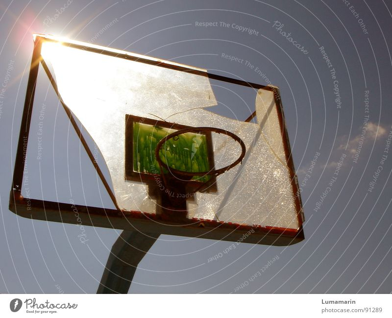 don't stop playing II Basketball basket Playing Leisure and hobbies Light Summer Physics Aim Destruction Shard Vandalism Anger Frustration Disappointment Loser