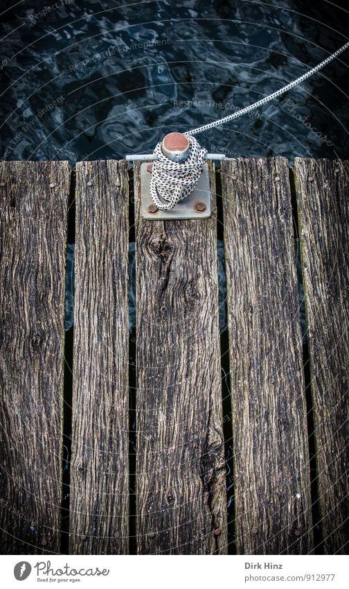 Old Water Ocean Coast Wood Brown Waves Rope Sign Safety Harbour Trust Firm Rust Navigation Footbridge