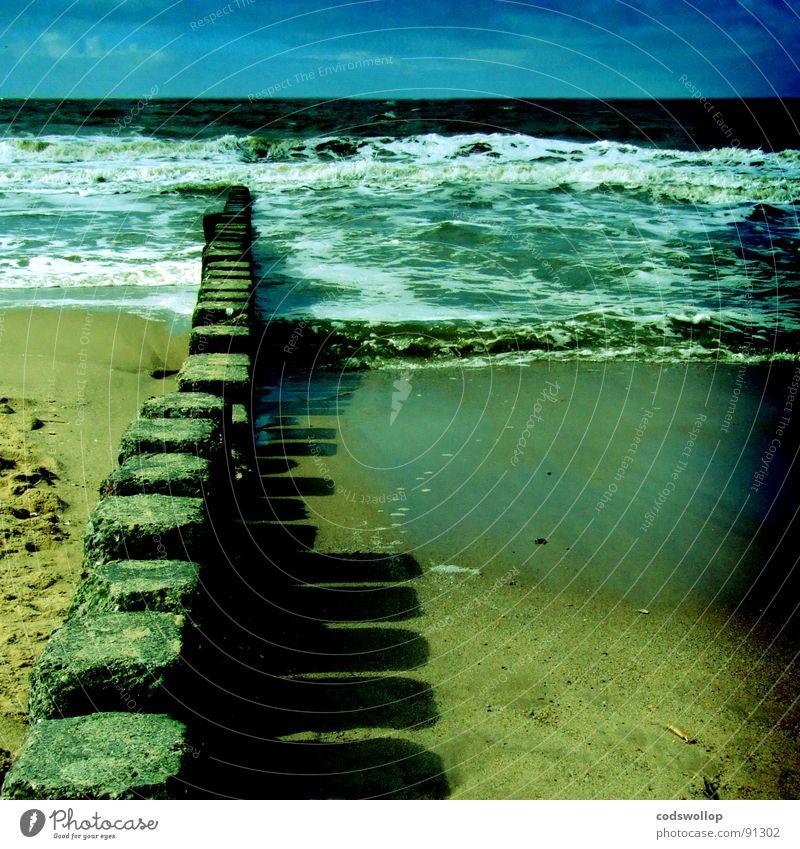Sky Beach Lake Waves Coast North Sea Break water
