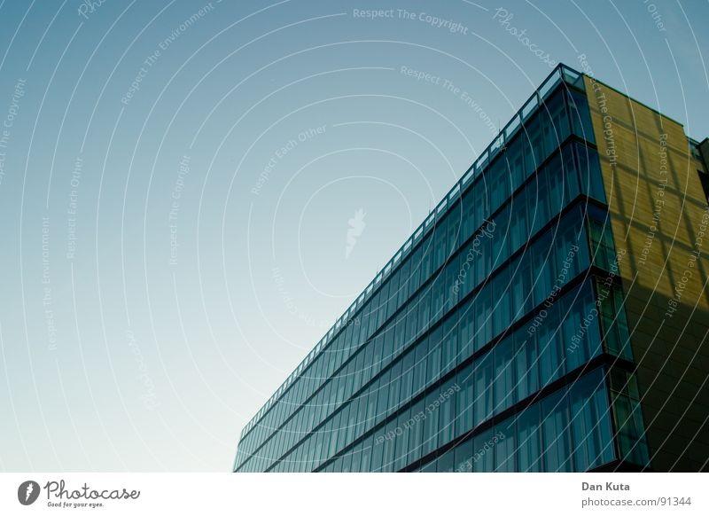 Sky Blue Window Architecture Building Glass Tall Modern Perspective Financial institution Bank building Diagonal Upward Geometry Tilt