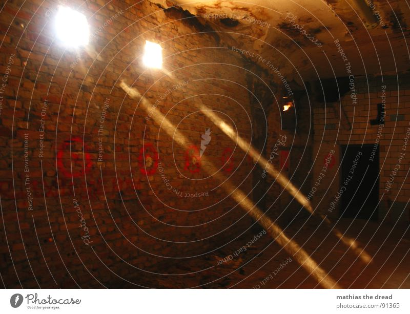 Light II Sunlight Radiation Sunbeam Dark Wall (barrier) Wall (building) Hollow 2 Dust Dusty Brick Red Dirty Room Derelict Light (Natural Phenomenon) Warmth