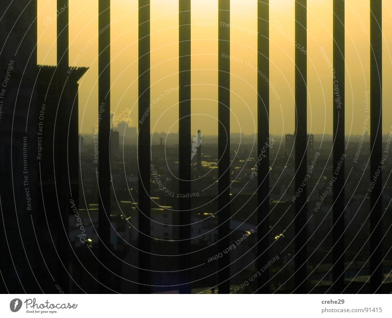Berlin Night Agents Government Yellow Grating Fence Direction Town Light Way out Captured Capital city Germany Sky Shadow metal grid Penitentiary