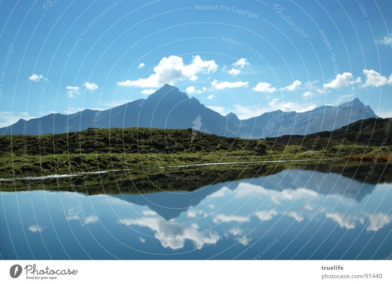 Piz Beverin Peak Hiking Mountain lake Reflection Summer Canton Graubünden Switzerland Tourism Thusis tchappina Alps