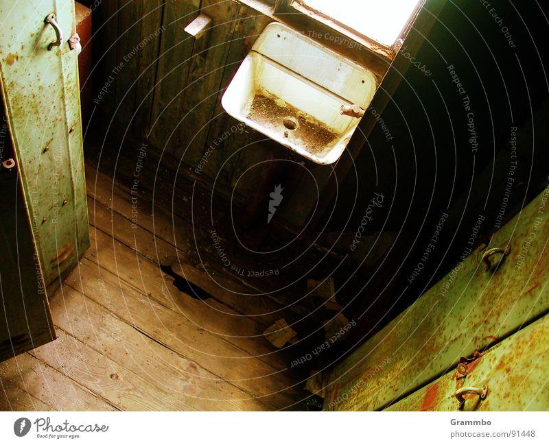 Horst won't come today Locker Cupboard Sink Loneliness Bathroom Door Drainage Wooden board Hallway Sadness