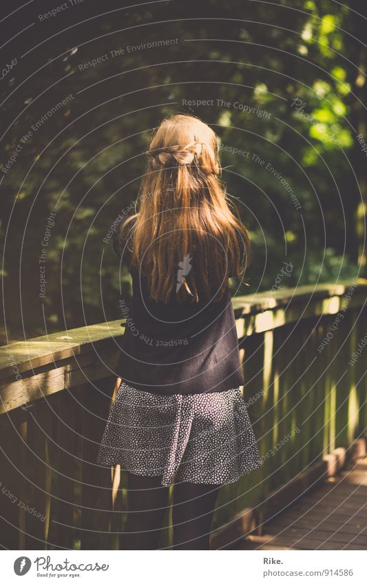 Get back. Get back. Human being Feminine Young woman Youth (Young adults) Woman Adults Back 1 13 - 18 years Child 18 - 30 years Nature Park Bridge railing Skirt