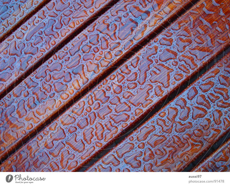 and after that the sun came... Wood Table Rain Pattern Water Drops of water Equal evenness