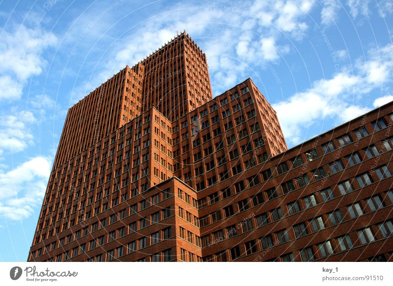 stairwell Potsdamer Platz House (Residential Structure) High-rise Office building Window Germany Skyline Berlin Capital city Stairs