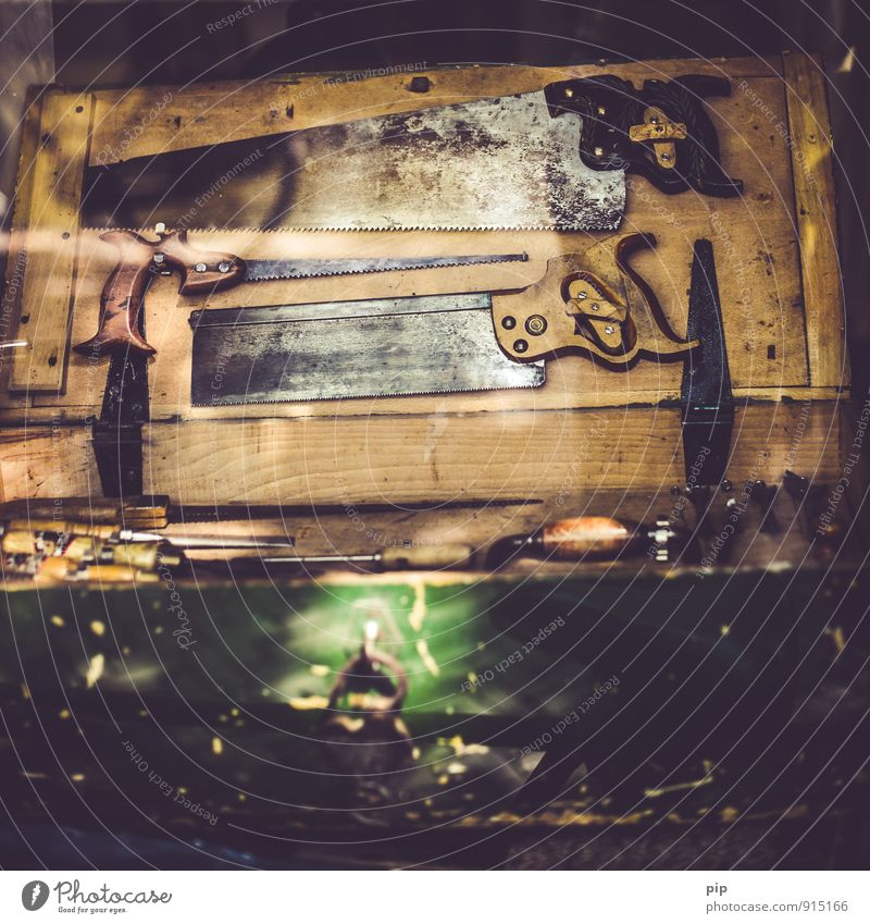 Old Wood Brown Metal Workshop Craft (trade) Tool Ancient Handcrafts Joiner Saw Handle Joiners workshop Jacksaw