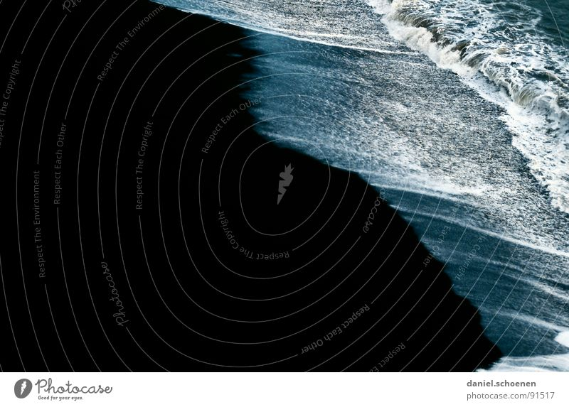 black beach Black White Beach Hawaii Abstract Background picture Waves Lava Volcanic USA Water Coast Sand salt water Contrast
