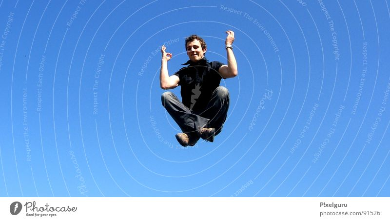Sky Blue Calm Relaxation Playing Jump Flying Meditation
