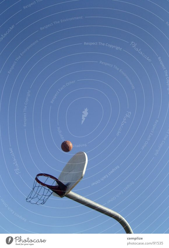 basketball Ball sports Strike Aim Blue sky Sports Throw throw baskets the big litter Target