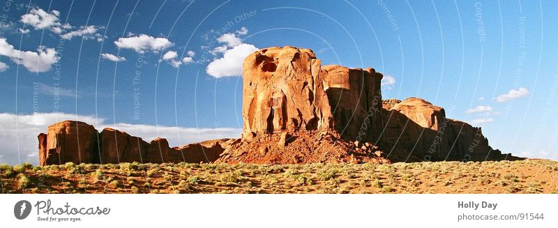 Sky Blue Summer Vacation & Travel Clouds Mountain Freedom Rock Land Feature USA Desert Hill Blue sky Pol-filter West Coast Monument Valley