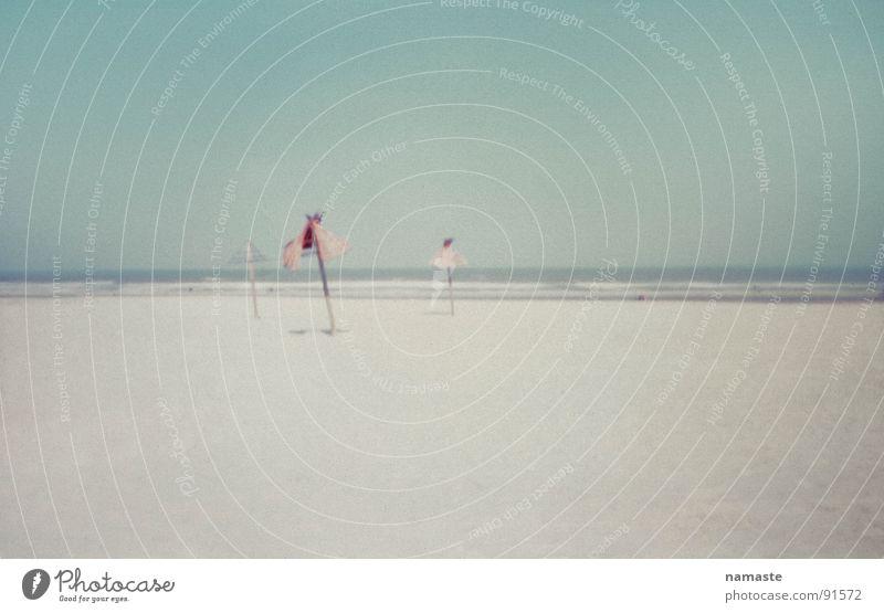 Ocean Beach Sand Horizon Soft Turquoise Sunshade Netherlands