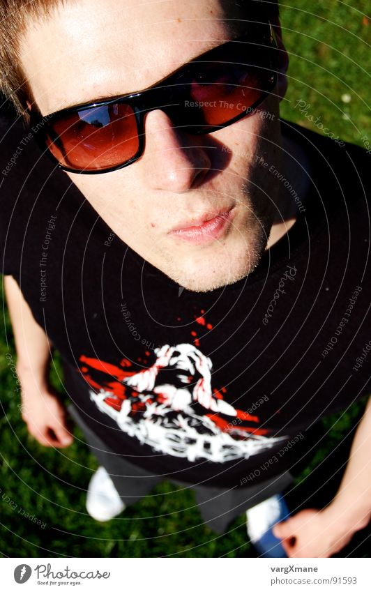 Flois1337 Sunglasses Summer Bird's-eye view Easygoing Physics Man Suicide Silence Guy Face Florian metal shirt Warmth