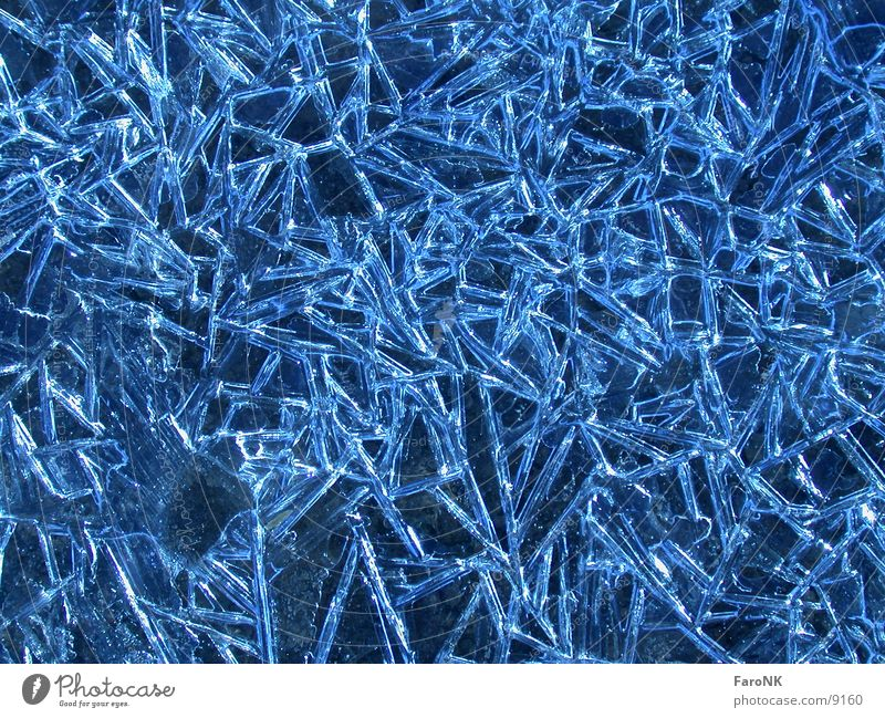 Water Blue Ice Crystal structure