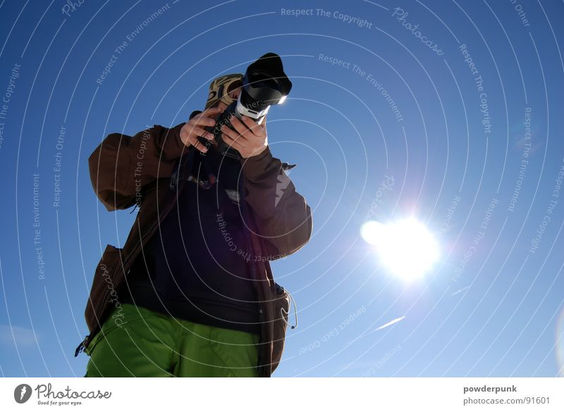 Man Winter Photography Art Film industry Culture Camera Image Photographer Take a photo Blue sky Photo shoot