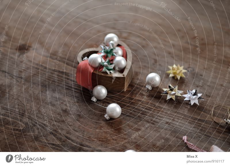 bits and pieces Decoration Christmas & Advent Tin Collection Collector's item Wood Glass Sphere Glittering Christmas decoration Glitter Ball Star (Symbol)