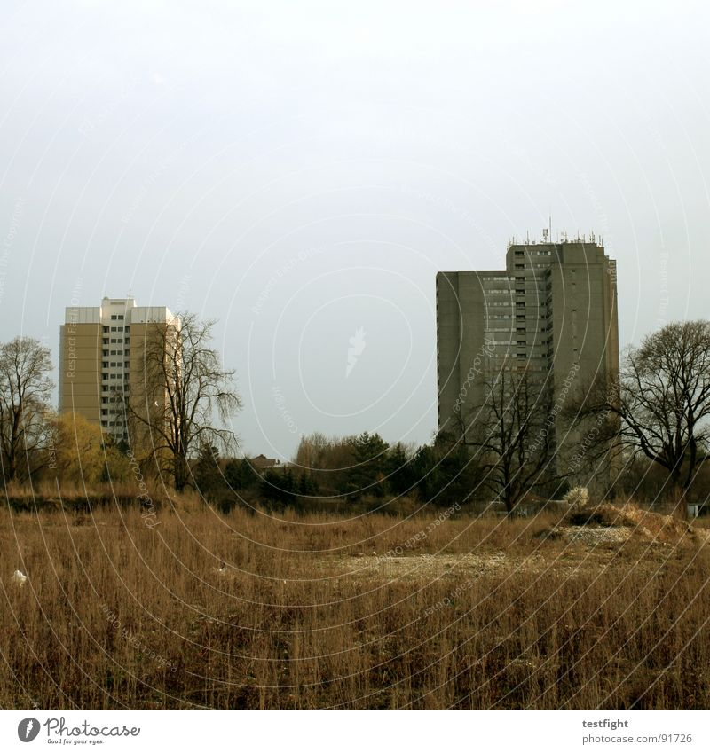 Life Gray Building Living or residing Prefab construction Old building Sparse Suburb Tower block