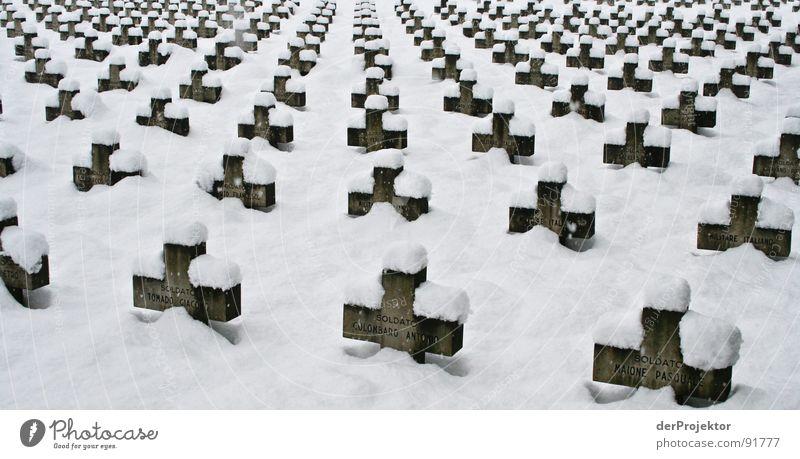 The silence after the shot War Grave Black White Slovenia Winter Soldier Corpse Calm Landmark Monument Death Back Snow Ljubljana Ljubilana Hero Force Russia
