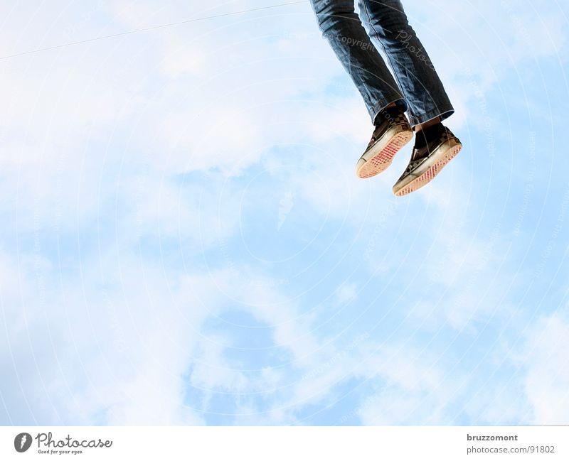 Sky Joy Clouds Feet Beginning Jeans Hover Vertical Departure The Assumption Houston