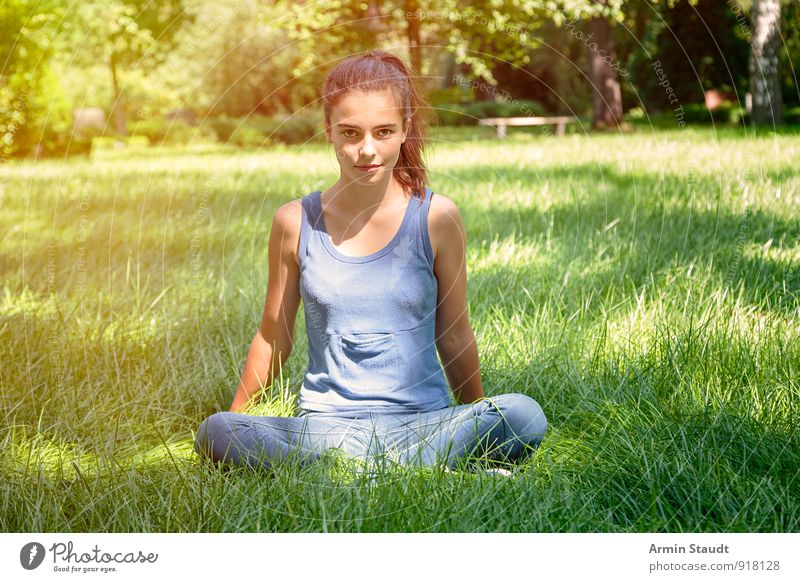 will Lifestyle Relaxation Meditation Yoga Human being Feminine Woman Adults Youth (Young adults) 1 13 - 18 years Child Nature Spring Summer Beautiful weather